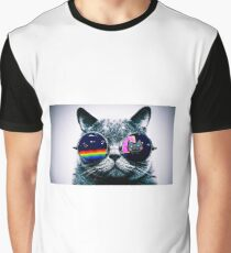 Cat in glasses Graphic T-Shirt