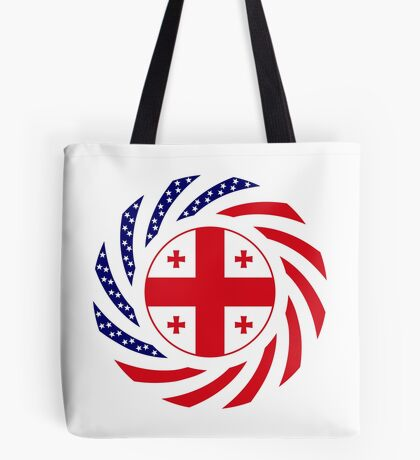 Georgian American Multinational Patriot Flag Series Tote Bag
