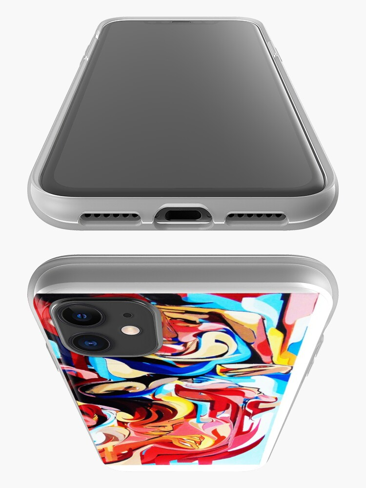 Alternate view of Expressive Abstract People Composition painting iPhone Case & Cover