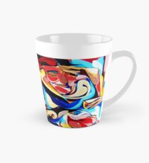 Expressive Abstract People Composition painting Tall Mug