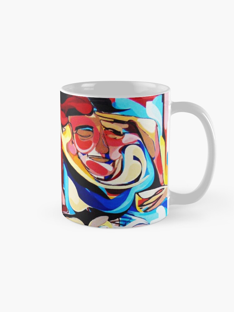 Alternate view of Expressive Abstract People Composition painting Mug