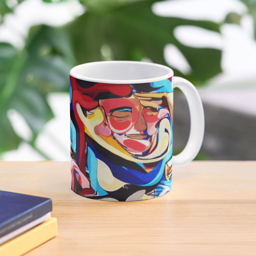 Expressive Abstract People Composition painting Mug