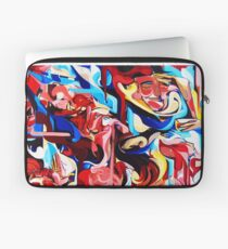 Expressive Abstract People Composition painting Laptop Sleeve