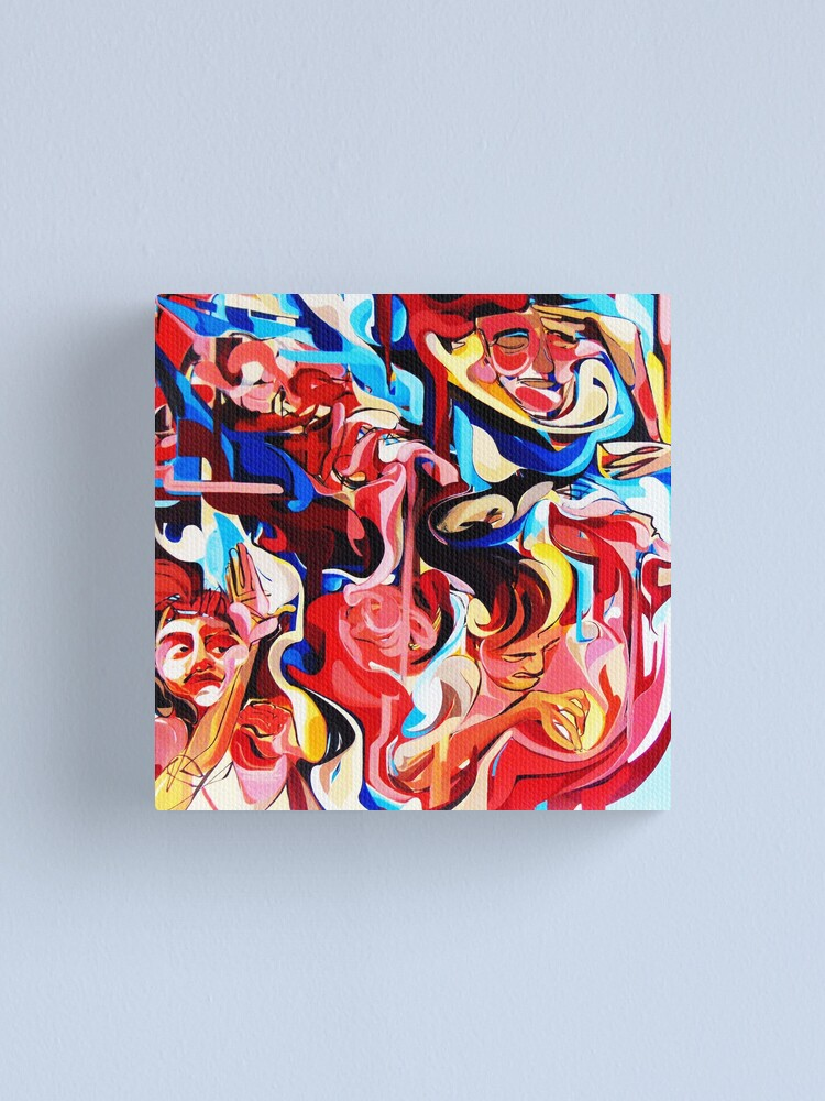 Alternate view of Expressive Abstract People Composition painting Canvas Print