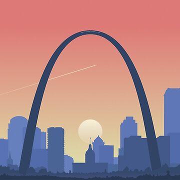 Saint Louis Sunset by befehr