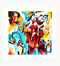 Expressive Abstract People Music Composition painting Art Print