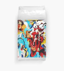 Expressive Abstract People Music Composition painting Duvet Cover