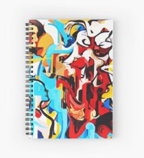 Expressive Abstract People Music Composition painting Spiral Notebook