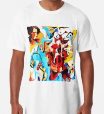 Expressive Abstract People Music Composition painting Long T-Shirt