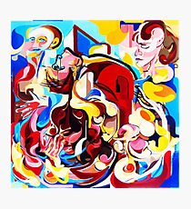 Expressive Abstract People Music Composition painting Photographic Print