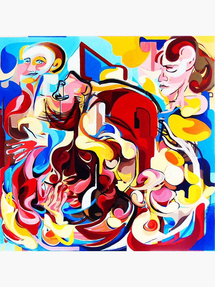 Expressive Abstract People Music Composition painting by CatarinaGarcia