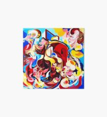 Expressive Abstract People Music Composition painting Art Board Print