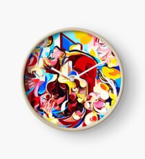 Expressive Abstract People Music Composition painting Clock