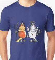 Angel and devil horses - Comic - Gift - Funny - Animals Unisex T-Shirt
