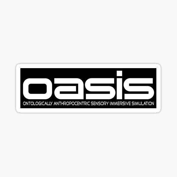 OASIS (Ready Player One, Halliday, Anorak, White) Sticker