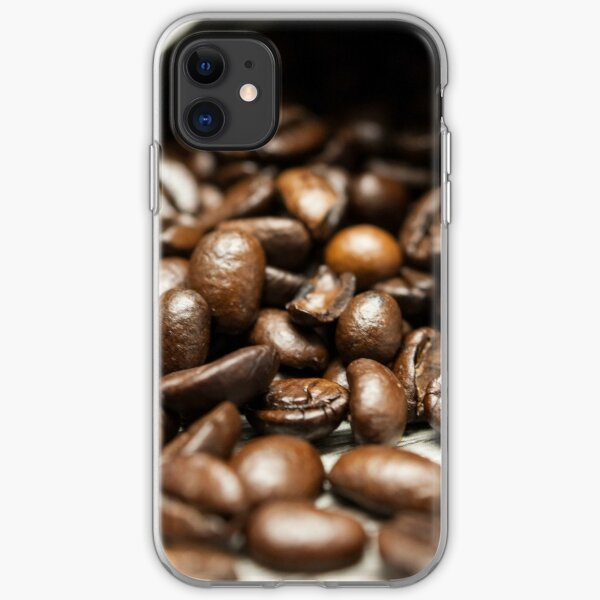Spilled Coffee Beans iPhone Soft Case