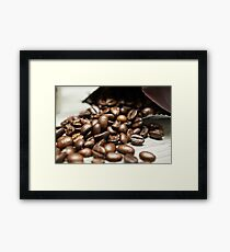 Spilled Coffee Beans Framed Print
