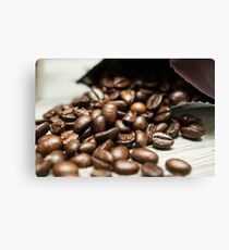 Spilled Coffee Beans Canvas Print
