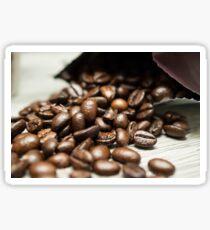 Spilled Coffee Beans Sticker