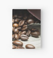 Spilled Coffee Beans Hardcover Journal