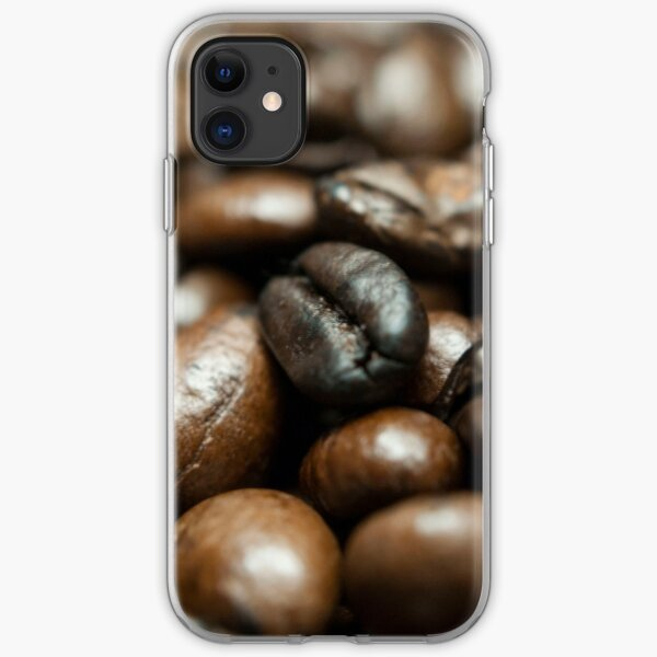 Coffee Bean Close-up iPhone Soft Case