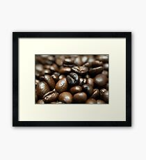 Coffee Bean Close-up Framed Print