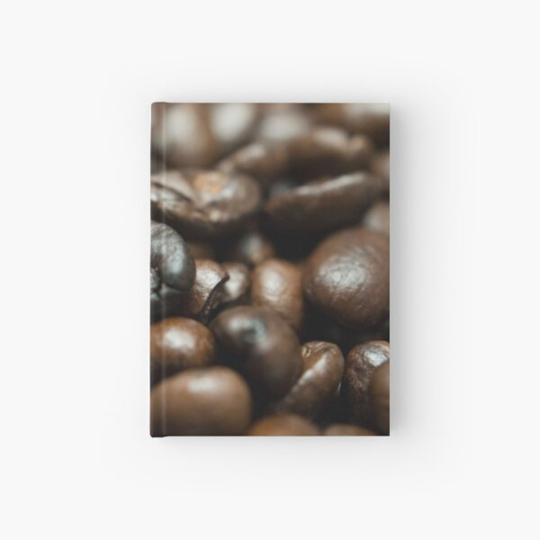 Coffee Bean Close-up Hardcover Journal