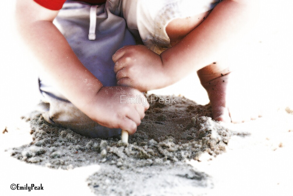 Playing in Sand by Emily Peak
