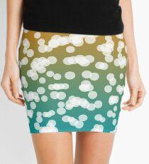 Blurry Lights: Teal & Orange Mini Skirt