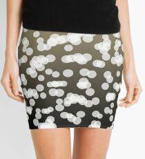 Blurry Lights: Black & Brown Mini Skirt