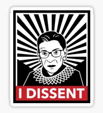 Je désapprouve la juge Ruth Bader Ginsburg Sticker