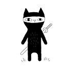 Ninja Cat by Ekaterina Zimodro