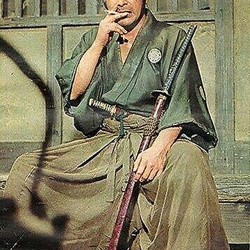 Toshiro Mifune Smoking by bammydfbb