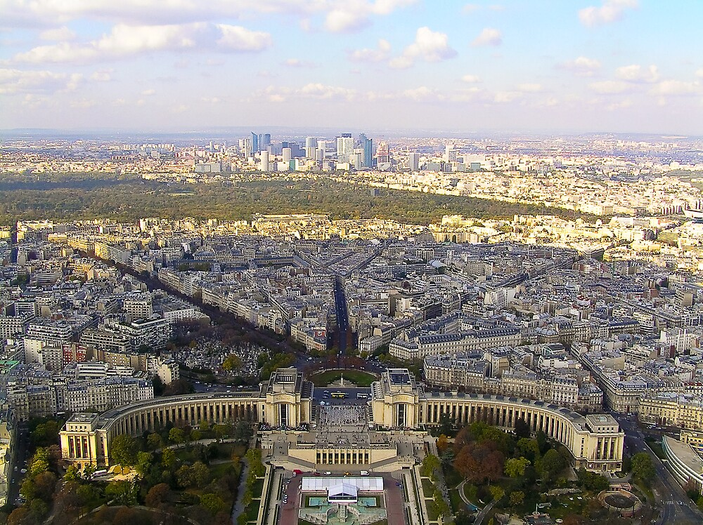 Sunny Day Over Paris by Steve Rhodes