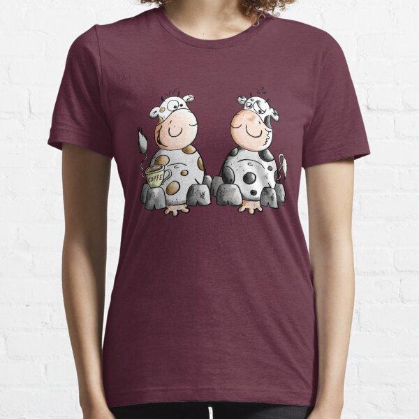 Caffeine and Caffeine-free cows - Coffee - Comic - Morning Essential T-Shirt