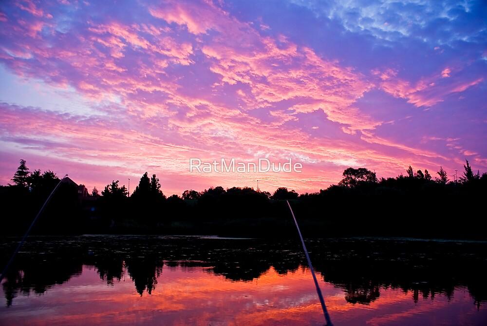 Sunset while Fishing at Hymany Dam by RatManDude