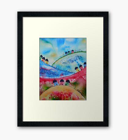 Over the Hills Framed Print