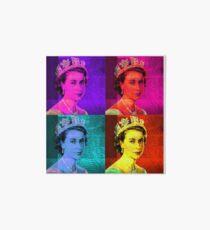 Queen Elizabeth II - Pop Art Art Board