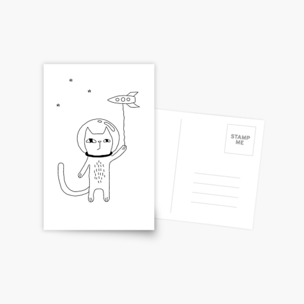 Space Cat Postcard