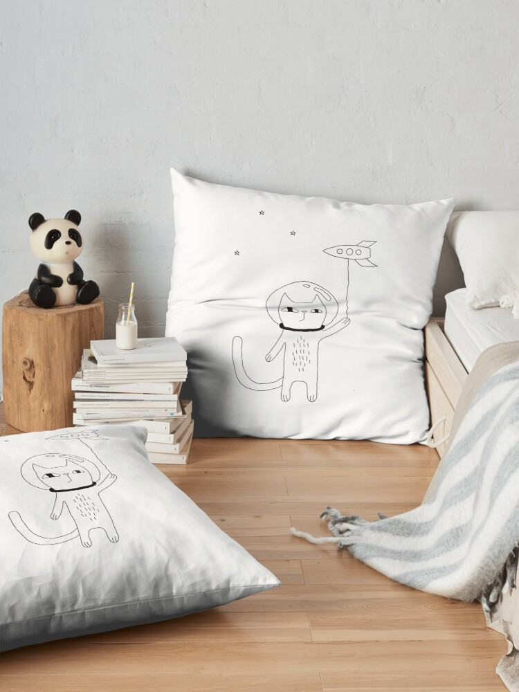Alternate view of Space Cat Floor Pillow