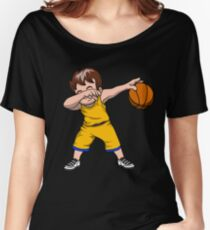 Dabbing Basketball Boy Basketball Lover Team Sport Fans Support School Coach Play Game Women's Relaxed Fit T-Shirt