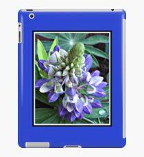 Raindrops on Baby Blue Lupin  iPad Case/Skin