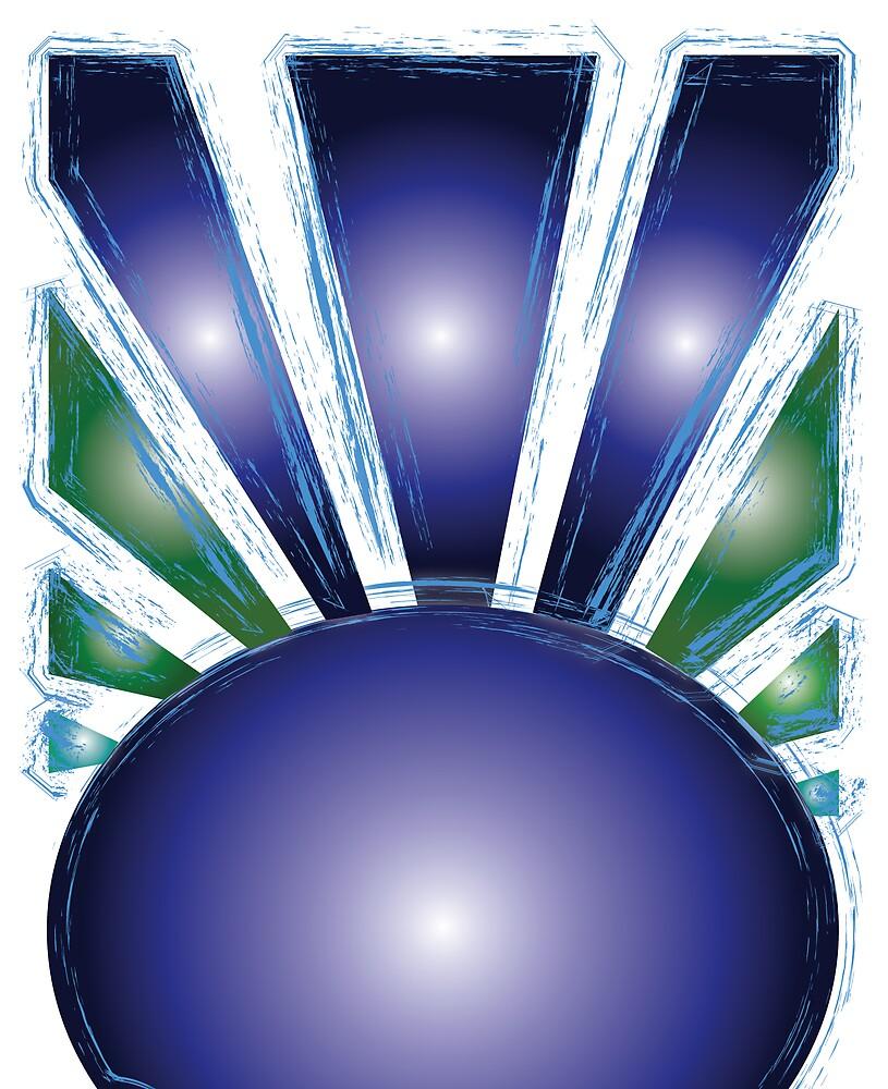 Blue Retro Sun by Sirrom