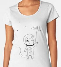 Space Cat Women's Premium T-Shirt