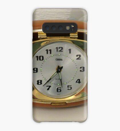 Tick oder nicht Tick? Vintage Reiseuhr Hülle & Klebefolie für Samsung Galaxy