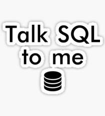 Pegatina Talk SQL To Me