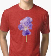 Purple Iris T-shirt Tri-blend T-Shirt