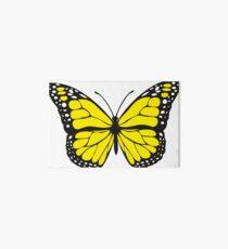 Yellow, digital butterfly Art Board