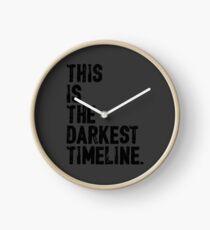 This Is The Darkest Timeline Clock