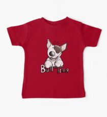 Funny Bull Terrier Comic - Dog - Dogs - Cartoon - Funny - Gift Baby Tee